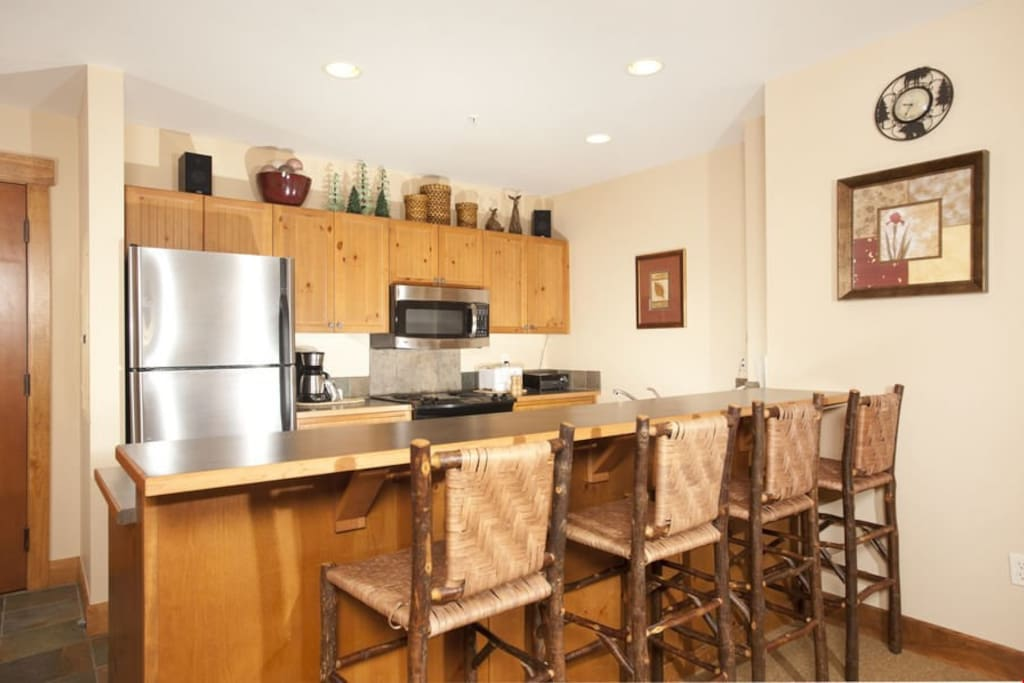 Enjoy cooking in the fully-equipped kitchen