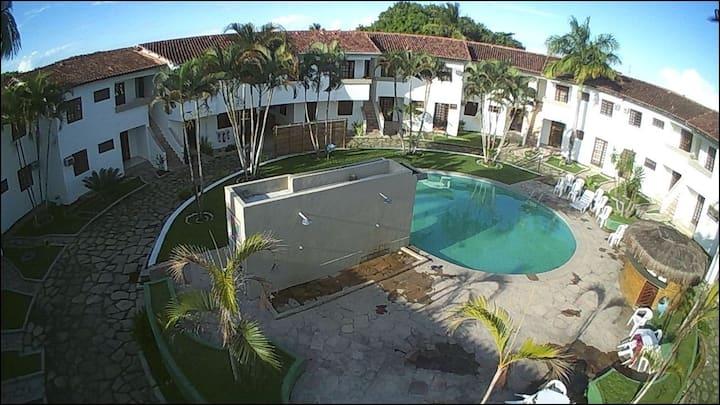 Otimo apartamento com 3 quartos,piscina e WI-FI