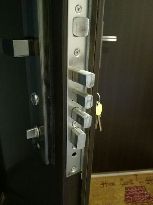 Security door of apartment