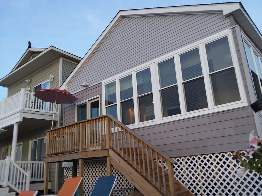 Back of the house leading to deck