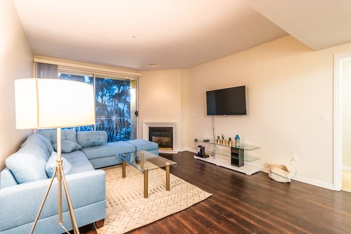 Bright Spacious two bedroom apartment by the beach