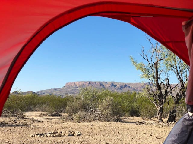 This is the view of 9 Point Mesa directly out of the Cosmic Campsite tent. Can't beat waking up to that view.