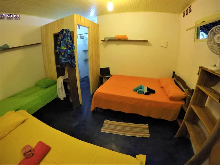 Suite Central. Hostel Moreré, 500m da praia!