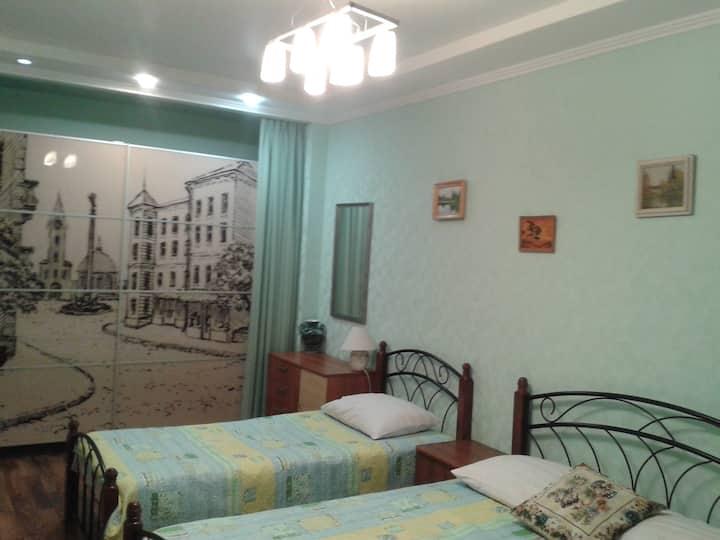 Удобная для отдыха, 1-ком квартира в центре Анапы,