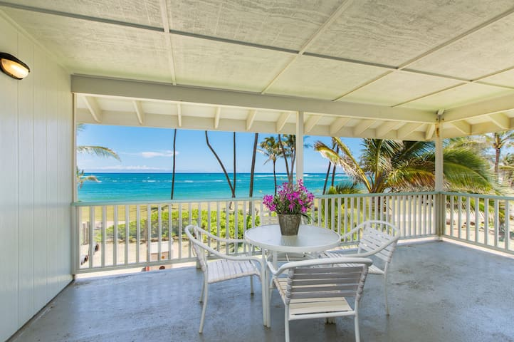 Kapa'a by the Sea Beachfront, AC, Walk to Town, Sunrise Views, TVNC #1312