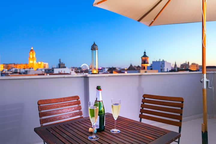 Terrace Penthouse - Historic Centre A/A WIFI☀️