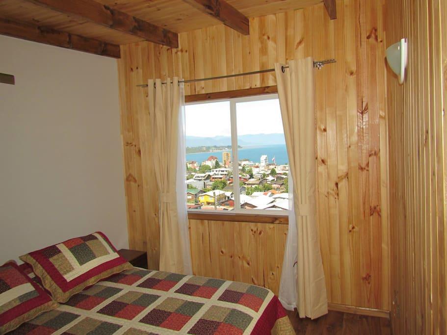 habitación matrimonial  segundo piso con vista al mar