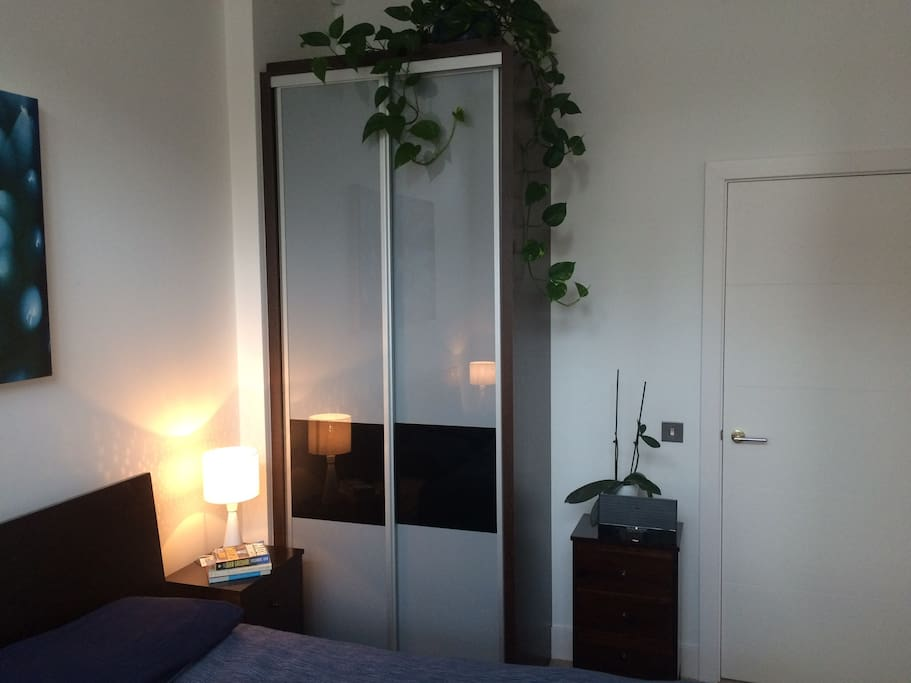 Private bedroom with front garden view
