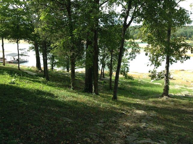 Back yard and view of lake