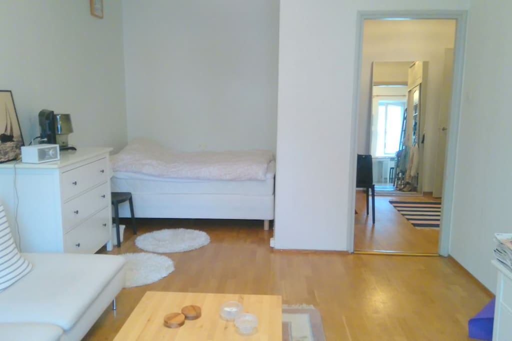 Double bed, alcove