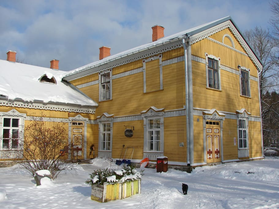Sänna Culture Manor in winter