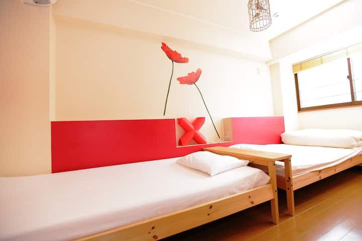 Hostel Casa Noda Standard Twin room (max 3 guests)