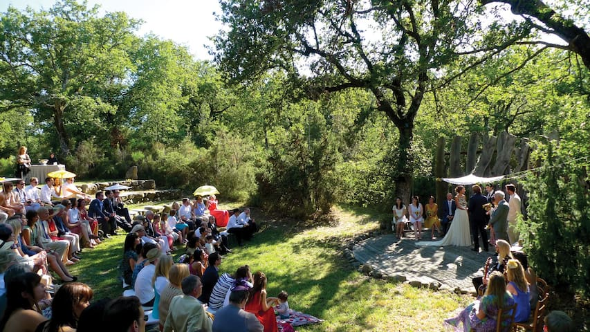 Our stone amphitheatre can seat up to 150 guests