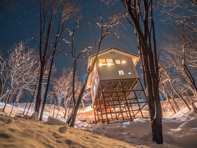 Kamoshika Views|Free Shuttles|Treehouse|Hakuba .