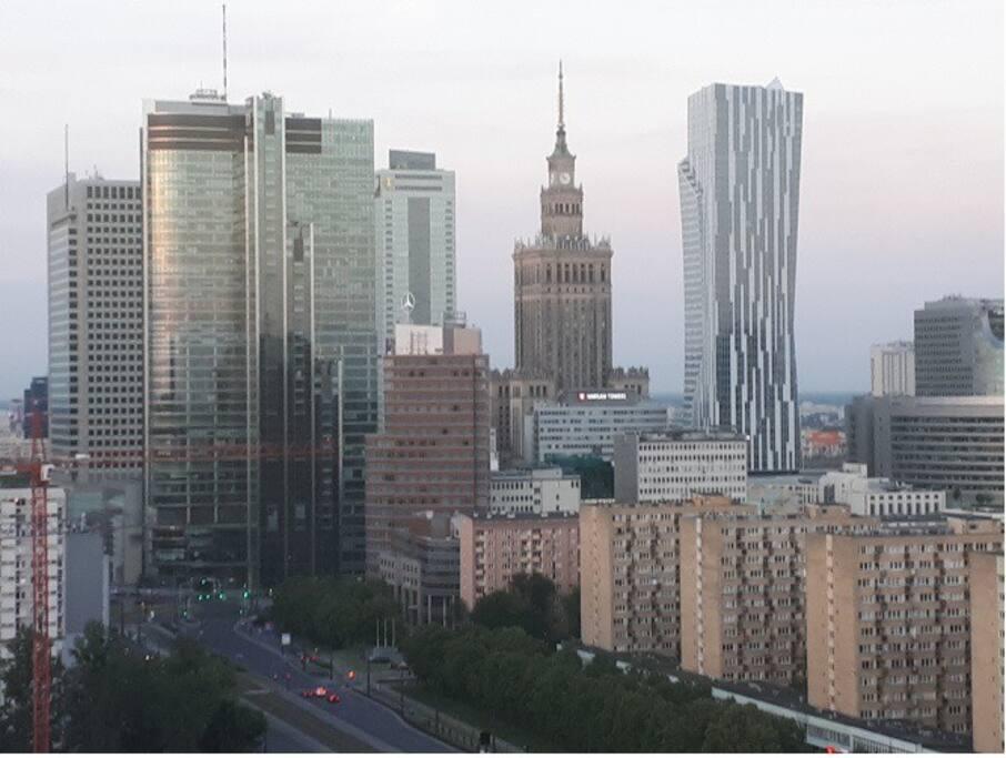 fantastyczny widok na panoramę Warszawy
