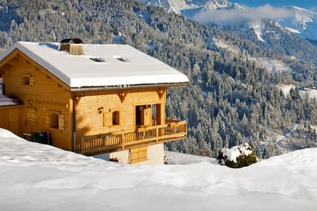 OVO NETWORK - Pretty south facing French Alps chalet, fabulous view - Hytte (i sveitsisk stil)