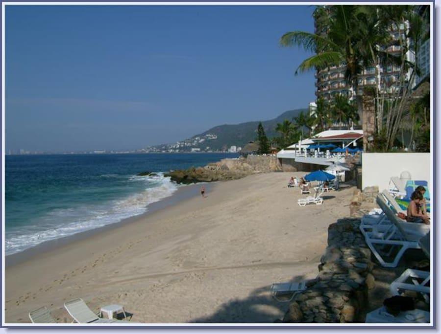 Best white sand beach around. Beach service available.