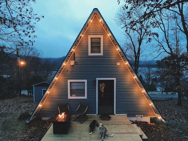 Renovated A-frame Cabin - Just 5 Minutes to Lake