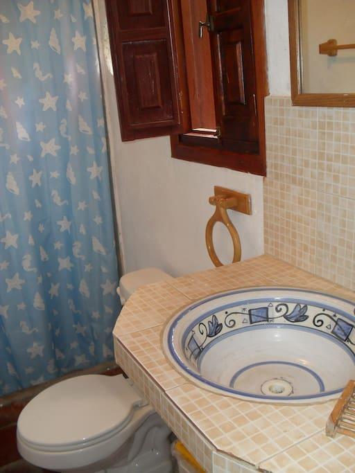 Baño privado en la habitación.