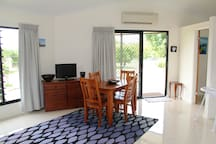 Dining suite, television and airconditioning