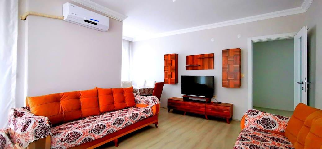 N13 شقة واسعة غرفتان وصالة عائلية لطيفة