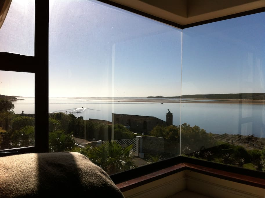 View from the master bedroom looking out onto the Breeda River mouth and deep sea fishing