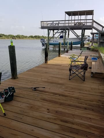 Private fishing pier for the use of our guests only