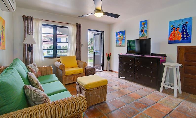 Living room wiht sleeper sofa