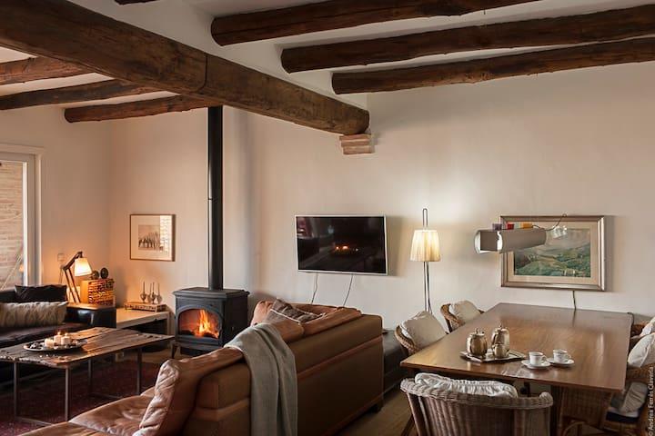 Habitación con encanto en un pueblo medieval