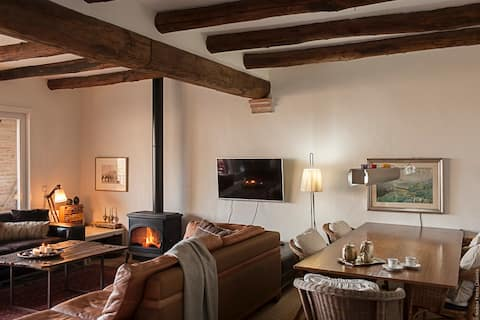 Charming room in a medieval village