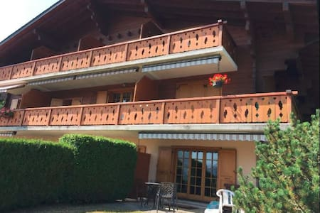 Swiss-Chalet apt with garden & view over the Alps - Villars-sur-Ollon - Apartment
