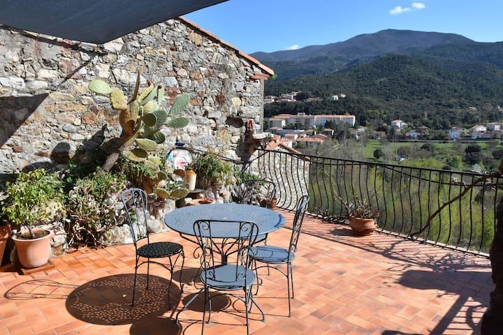 Lovely stone house - spacious terrace