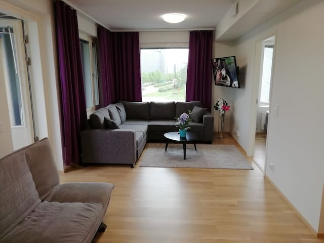 Luxury 2 bedroom, sauna, balcony, Airport/Flamingo