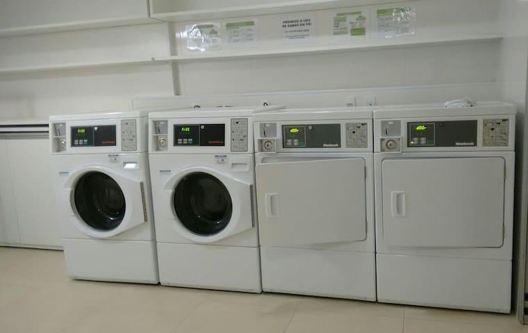Lavanderia no térreo (-5)- Se precisar usar a lavanderia informe previamente por favor