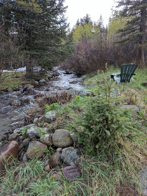 The South St. Vrain creek runs on the property