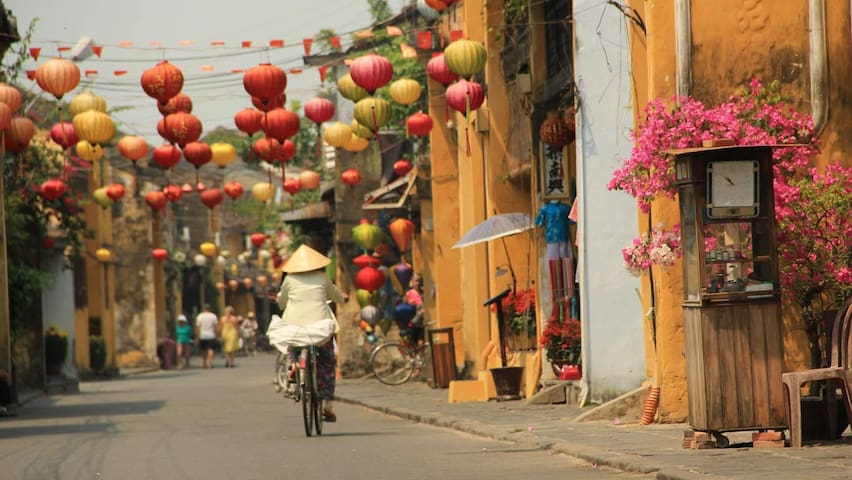 Hoi An Ancient town is just 10 minute away by taxi