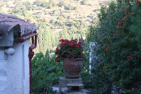 Old, stone farmhouse. - Andros