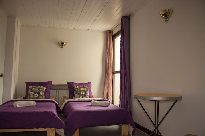 Фиолетовый, двухместный номер с балконом на 3 эт.