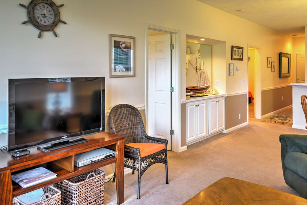 Relax in the unit's comfortable, open-concept living space.