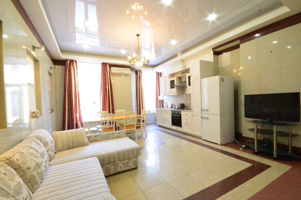 кухня-гостиная 50м2