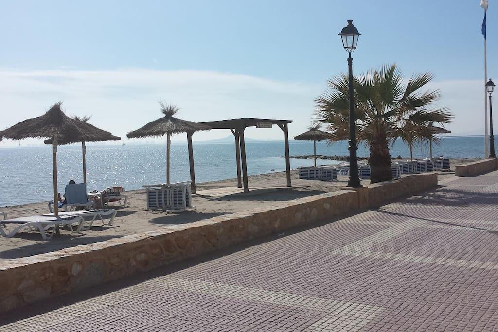 The beach in Los Alcazares