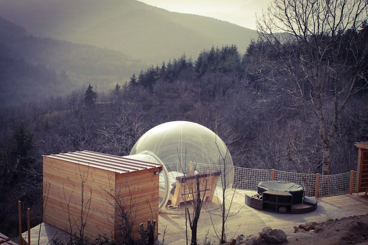 Bubble 47 SPA Sauna Jacuzzi privatif en altitude