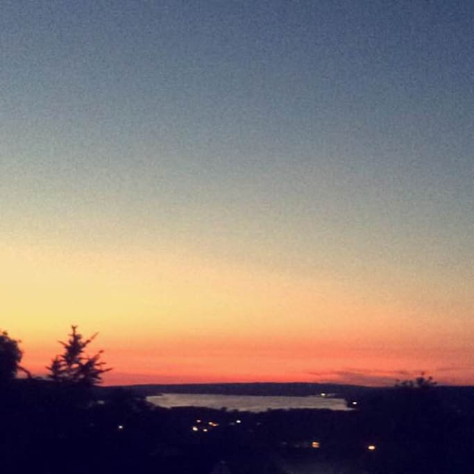 Beautiful sunset, Best view in Ithaca!