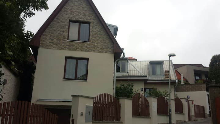 Spacious apartment with garden terrace & parking