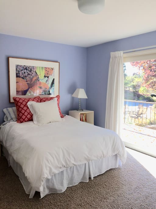 Guest (your!) bedroom.  Queen bed with direct access to the pool and deck.