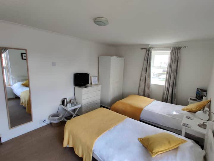 Twin Ensuite Room on Holy Island of Lindisfarne