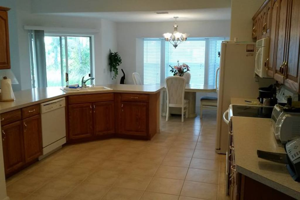 Large kitchen with dishwasher/garbage disposal
