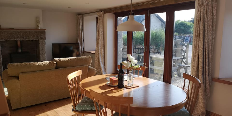 Open plan living with generous kitchen diner and lounge areas.