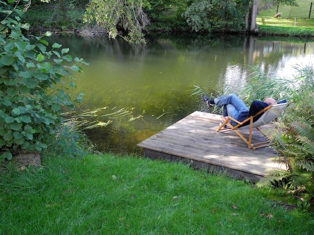 Ferienwohnung direkt am Wasser - Borkow