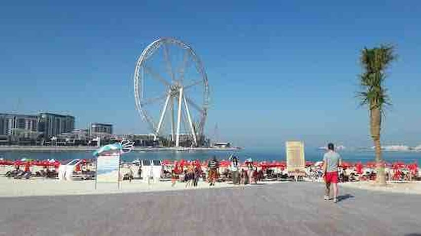 Jumeirah Beach And JBR is only a 7 minutes walk away
